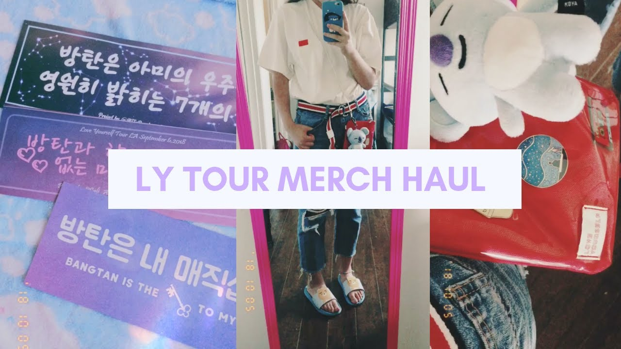 BTS Love Yourself World Tour Merch Haul | Ivory Tour Shirt, Mini Bag,  Program Book, etc