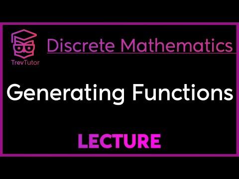 [Discrete Math 2] Generating Functions
