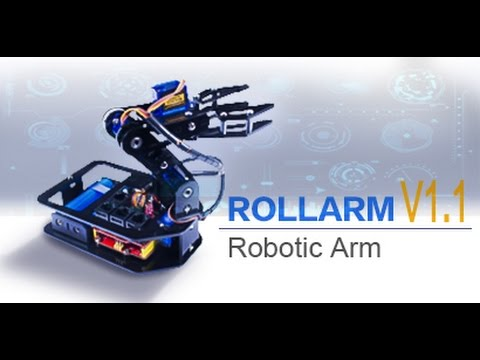 Updated - Rollarm DIY Servo Control Robotic Arm Kit V1 1 for Arduino Project