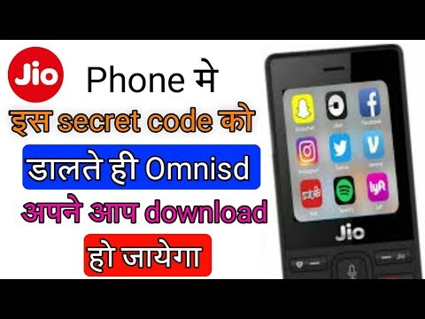 Repeat Jio Phone Secret Code Omnisd Download Without PC/Laptop New