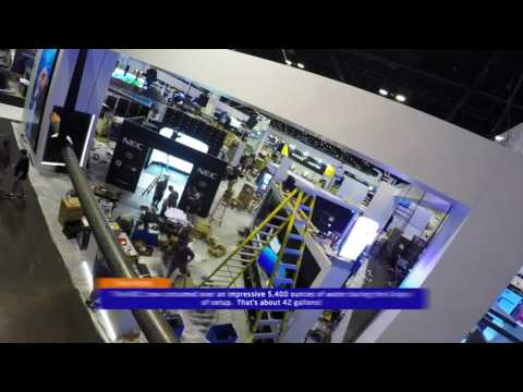| NEC Display Solutions InfoComm 2017 Booth Set Up