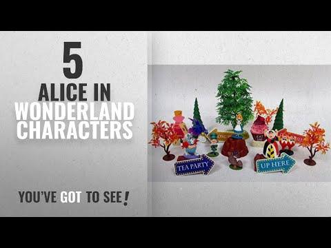 Top 10 Alice In Wonderland Characters [2018]: Alice in Wonderland 20 Piece Play Set Featuring Alice