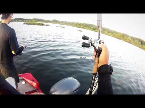 Summer bass fishing badin lake nc youtube for Badin lake fishing