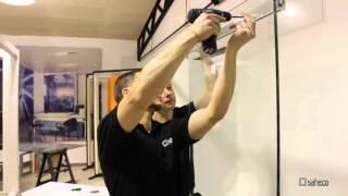 видео Стеклянные двери гармошка купить в Москве
