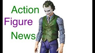 Action Figure News #129 Mafex Justice League AQUAMAN & WONDER WOMAN Mafex TDK JOKER & Mezco BATMAN