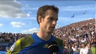 Andy Murray Emotional Interview after 2013 Queen's Club Final   YouTube
