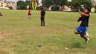 Mitchell starc bowling action in childhood