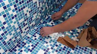 Бассейн из мозаики - как снять бумагу с отделки своими руками +7 (926) 224-71-44