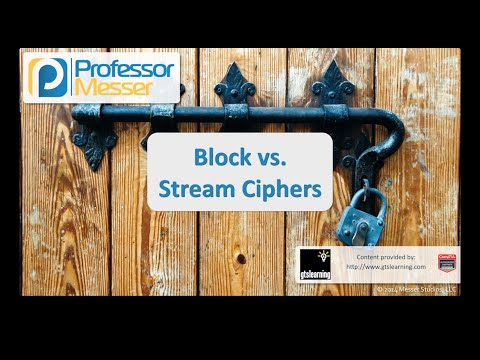 Block Vs. Stream Ciphers - CompTIA Security+ SY0-401: 6.1