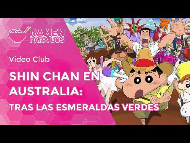 Shin chan en Australia: Tras las esmeraldas verdes | Vídeo club de anime