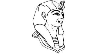 как нарисовать фараона,how to draw a pharaoh,cómo dibujar un faraón,come disegnare un faraone