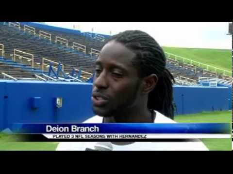 Deion Branch Talks Hernandez, NFL Future at Skills and Drills