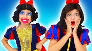 Princess Snow White Sisters Dress Up & Makeup to go to Princess's Party   Super Elsa