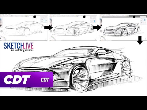 LIVE: Sketching Cars With Marcin | #2 Https://youtu.be/ DswCCpmUvA | Daily Car  Design Videos On Our New YouTube Channel Here: Http://bit.ly/CDP_YouTube