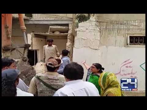 24 Report : Few more MQM offices demolished in Karachi
