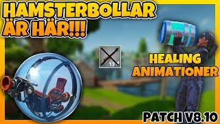 HAMSTERBOLLAR IS HERE | HEALING ANIMATIONS | GREY INFANTRY VAULAT | PATCH V 8.10 | FORTNITE IN ENGLISH