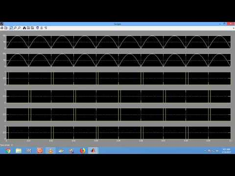 singkle phase controlled rectifier in matlab
