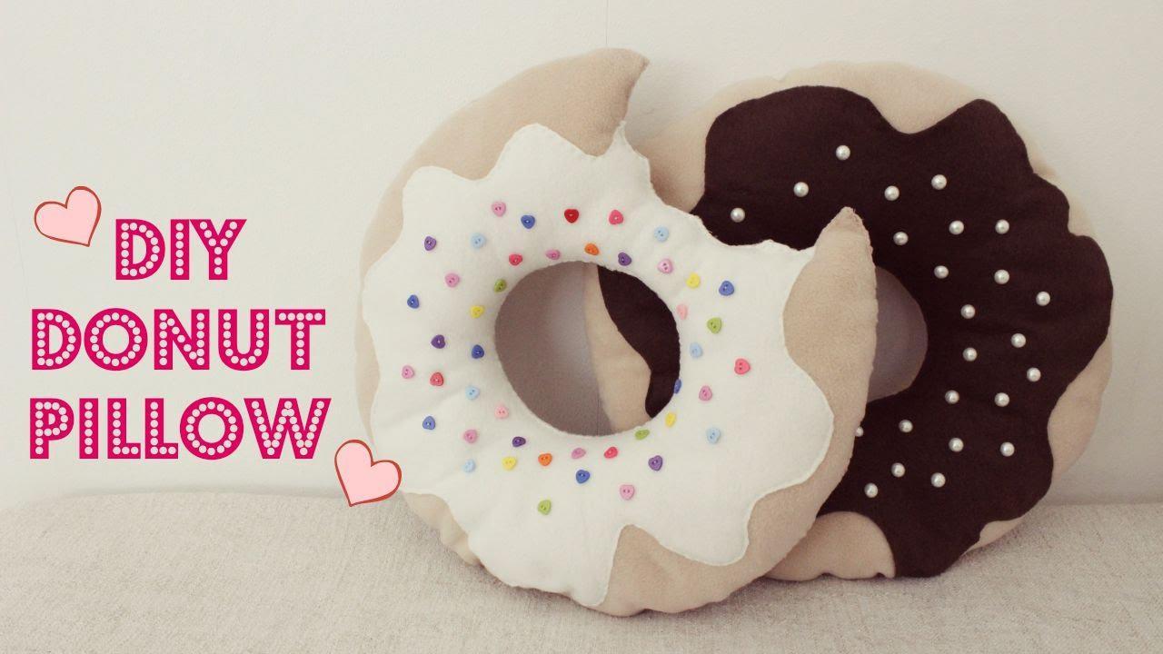 DIY Donut Pillow | Jtru - YouTube