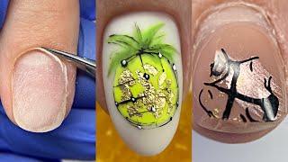Моя ошибка Лайфхак с неоновыми гель лаками Маникюр ремонт ногтя и наращивание на клиенте