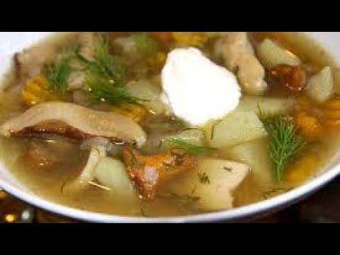 как сварить грибной суп из сушеных грибов в мультиварке