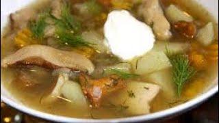 Грибной суп из сушеных грибов в мультиварке.