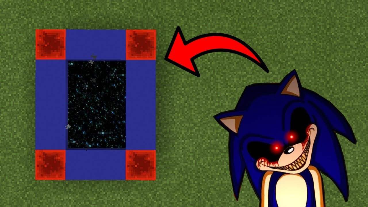 How To Make a Portal to the Sonic.exe Dimension in Minecraft (Pocket Edition)