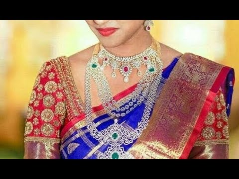 eef6eb358fc2e0 Royal Blue Bridal Pattu Silk Sarees with Contrast Blouse Collection - PART 2