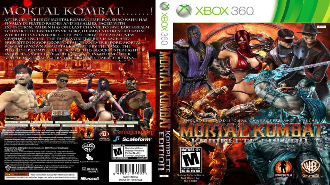 Mortal Kombat Komplete Edition Jtag Rgh Xbox 360 Youtube