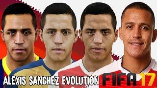 Alexis Sanchez Evolution - Face Comparison (Fifa 08 - Fifa 17)