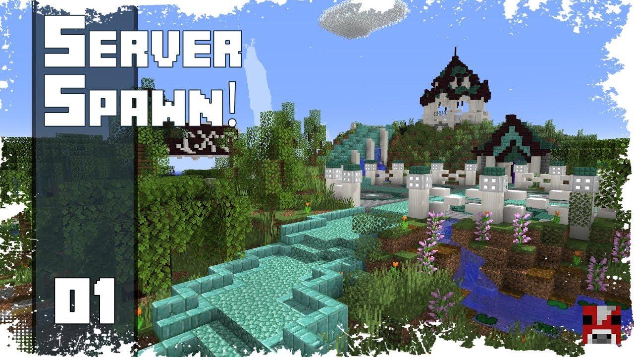 Minecraft Timelapse - LET'S BUILD A 1.13 SERVER SPAWN ft. FWHIP! - 01