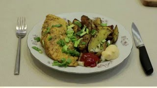 Запечённая картошка с курицей - Эх, лук-лучок