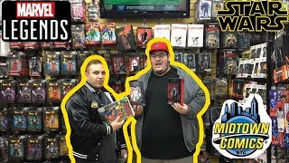 TOY HUNTING IN NYC AT MIDTOWN COMICS & FORBIDDEN PLANET (Marvel Legends,Star Wars & More)