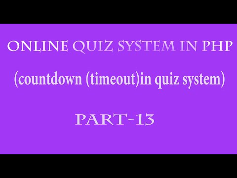 online quiz system in php hindi part 13(countdown or timeout of quiz