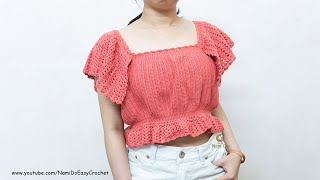 Easy Crochet for Summer: Crochet Crop Top (Sweater/Blouse) #41