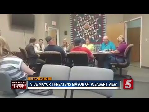 Pleasant View Vice Mayor Threatens Mayor