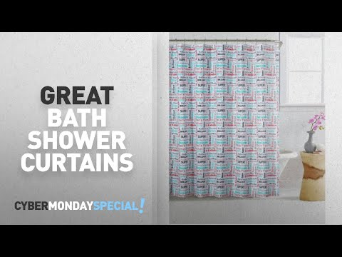 Walmart Top Cyber Monday Bath Shower Curtains Deals: Mainstays Bright Inspirational 13-Piece Shower