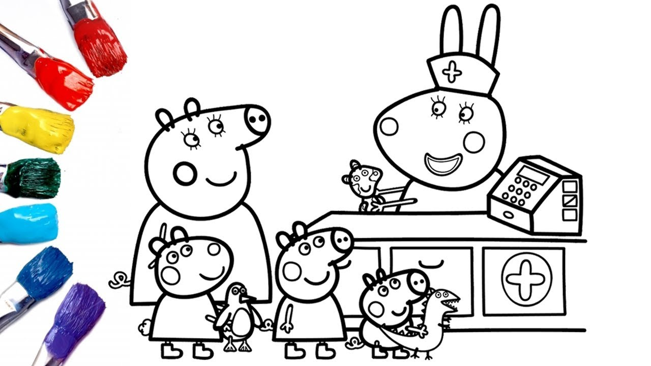 Peppa Pig Goes To Doll Hospital Peppa Pig Coloring