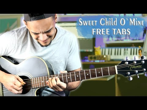 Sweet Child 'O Mine Solo – Acoustic Guitar Cover | Guns 'N Roses (* Free Tabs in Description )