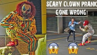 SCARY CLOWN PRANK GONE WRONG (PEPPER SPRAYED BY MY SISTER)