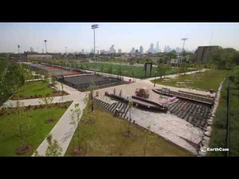 Jersey City Redevelopment Agency: Berry Lane Park construction time-lapse
