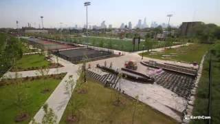 jersey city redevelopment agency berry lane park construction time lapse