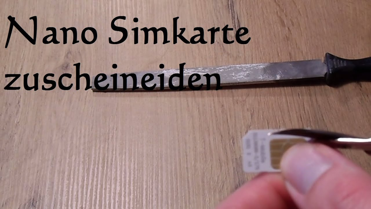 diy micro sim karte zur nano sim karte schneiden nano sim karte selber machen youtube. Black Bedroom Furniture Sets. Home Design Ideas