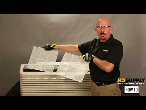 HVAC   How to Perform Monthly Maintenance on a HVAC PTAC Wall Unit