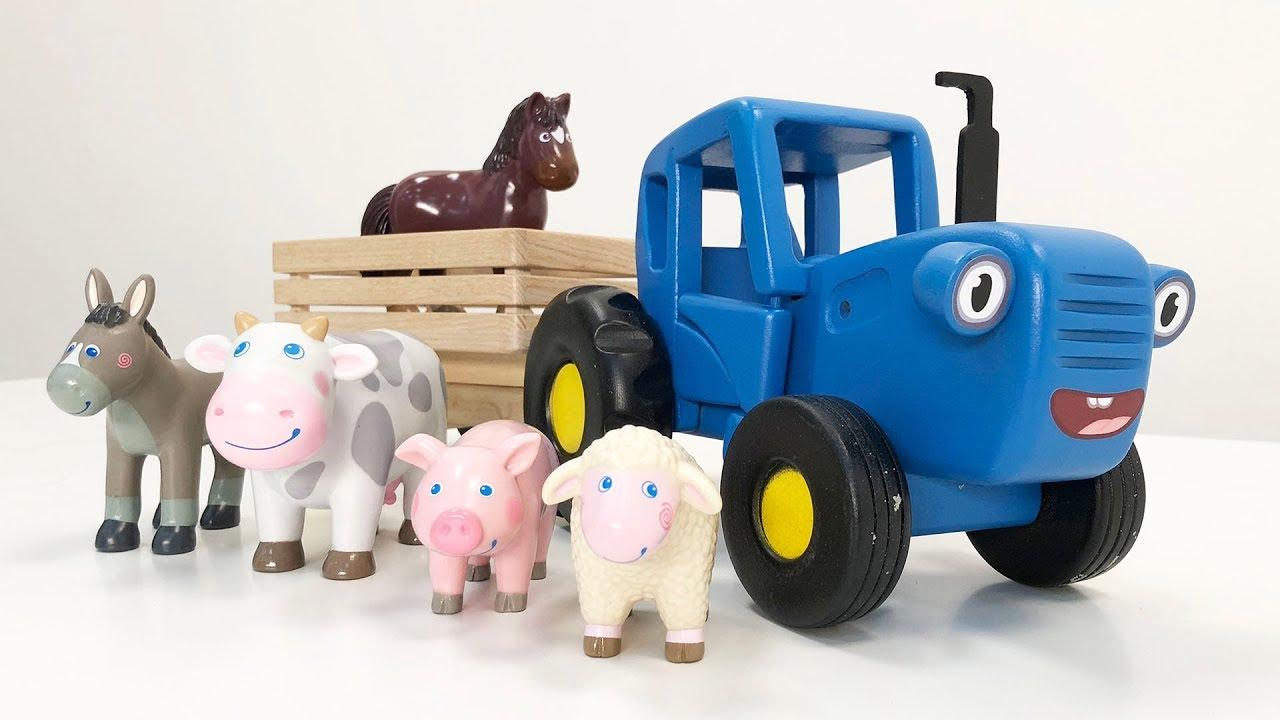 ЗВЕРИ ЕДУТ В КУЗОВЕ - Поиграйка Дедушка трактора и его домашние животные