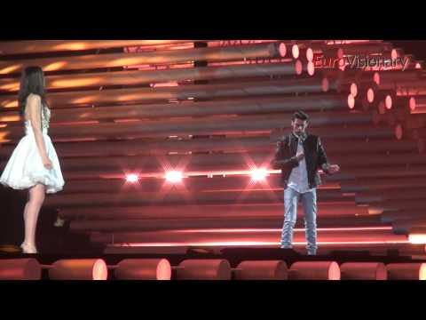 Eurovision 2015: Michele Perniola & Anita Simoncini - Chain Of Lights - San Marino - Rehearsal