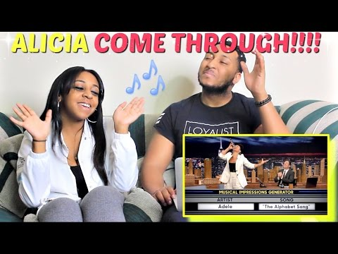 Wheel of Musical Impressions with Alicia Keys Reaction!!!