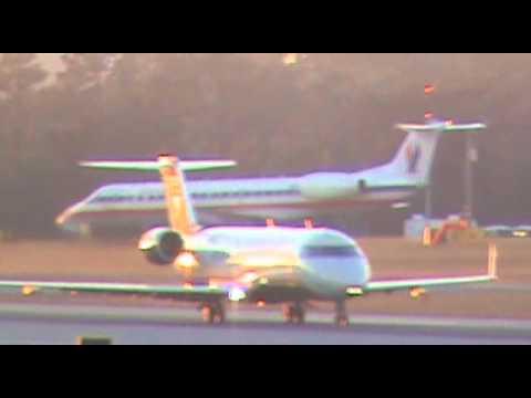 US Airways Express (PSA) CRJ-200 Departing Runway 8