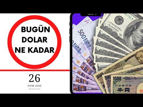 Bugün Dolar kaç TL ve sterlin ne kadar Euro Kaç tl ?    26 Ekim 2020