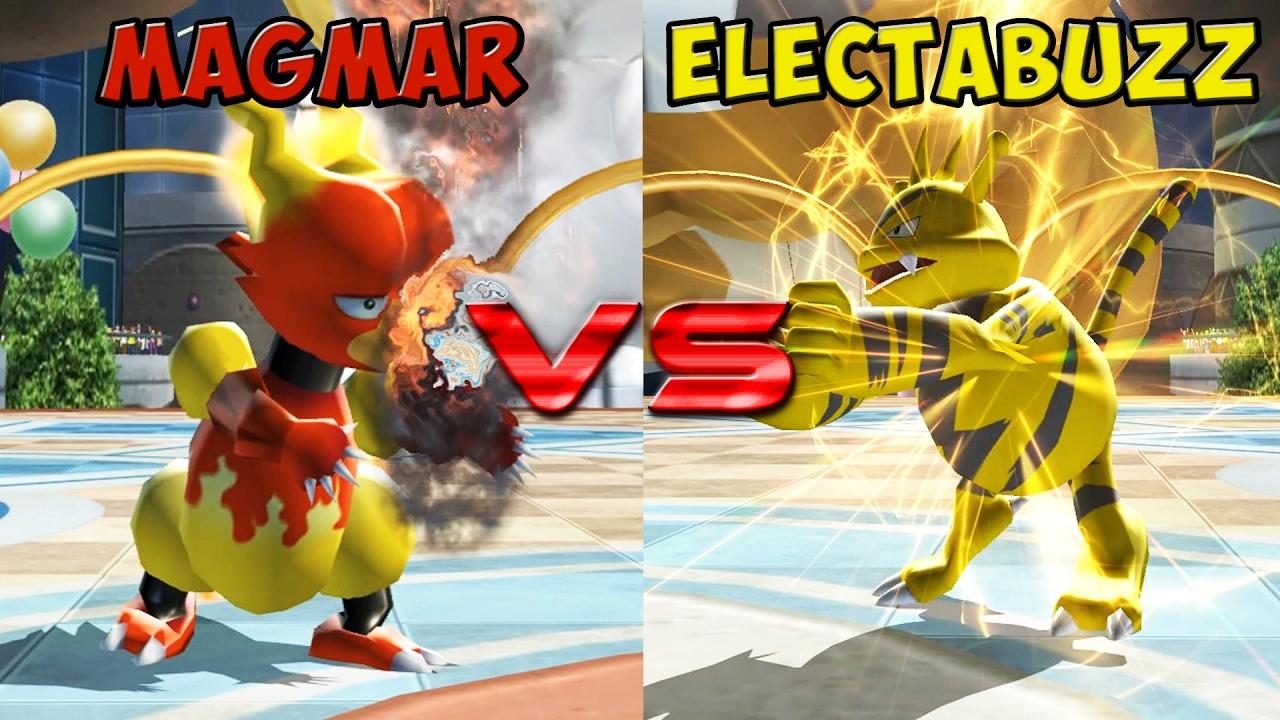 Pokemon battle revolution - Magmar vs Electabuzz - YouTube