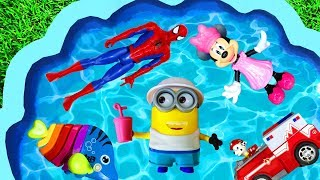 Learn Colors with Characters for toddlers, Super Heroes, Pj Masks, Paw Patrol and Barbie